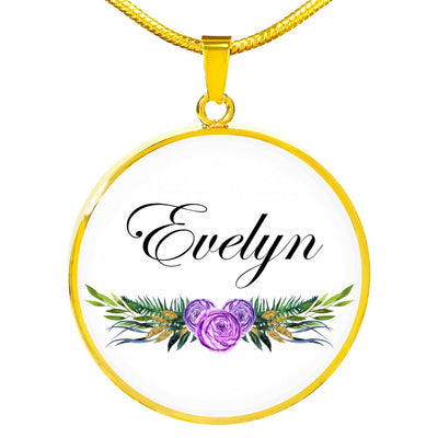 Evelyn v6 - 18k Gold Finished Luxury Necklace