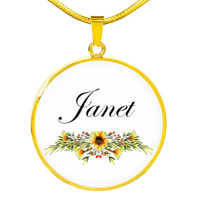 Janet v5 - 18k Gold Finished Luxury Necklace
