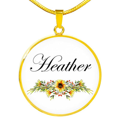 Heather v5 - 18k Gold Finished Luxury Necklace
