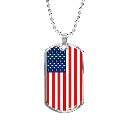 American Flag v1 - Luxury Dog Tag Necklace