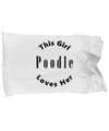 Poodle v2c - Pillow Case