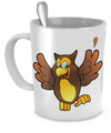 Happy Owl - 11oz Mug - Unique Gifts Store
