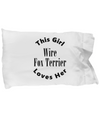 Wire Fox Terrier v2c - Pillow Case