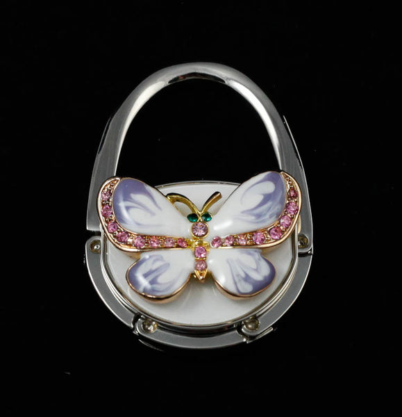 Enamel Butterfly Handbag Hook