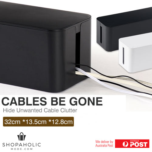 Cables Be Gone Cable Management Organiser - Black