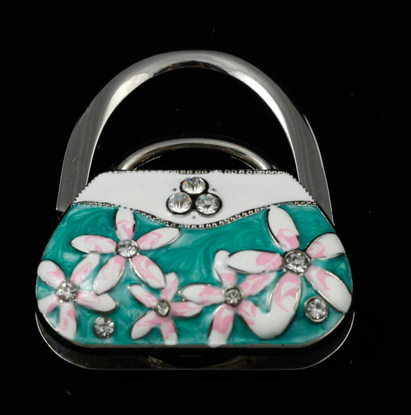 Enamelled Purse Hand Bag Hook