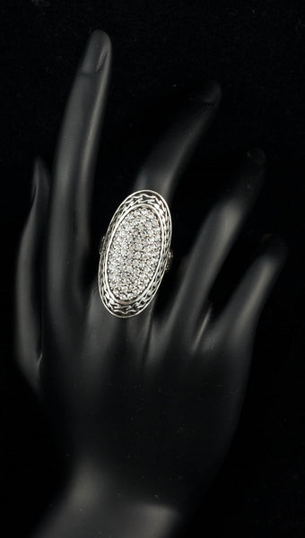 Antique Oval Shaped Rhinestone Ring