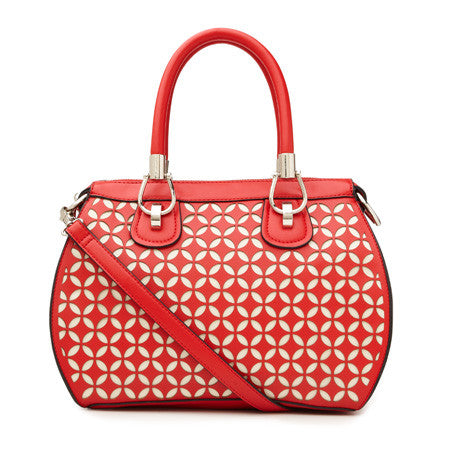Large PU Hand Bag with 2 Toned Laser Cut