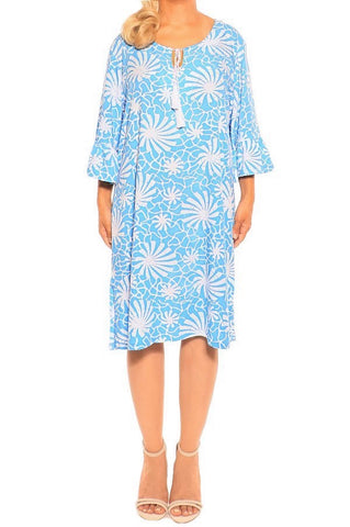 Blue Resort Dress - ESMERALDA THOMSON Beach and Resort Wear