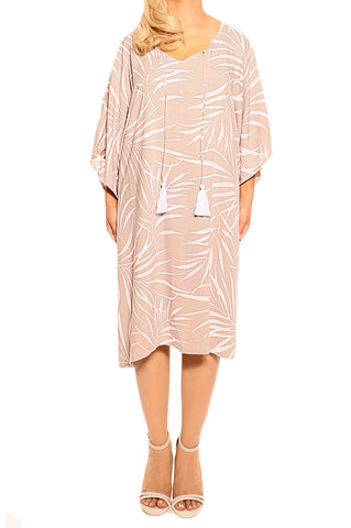 Mocha Kaftan Cover Up Dress - ESMERALDA THOMSON Boho Resort Wear