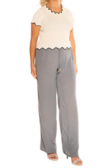 Grey Boho Resort Pants - ESMERALDA THOMSON Beach & Resort Wear