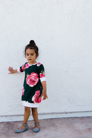Red Boho Dress for Little Girls - Red & White Outfit