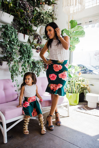 White Floral Tops | Mommy and Me