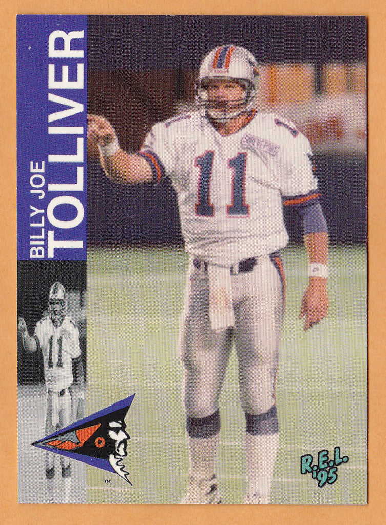 Billy Joe Tolliver CFL card 1995 REL #115 Shreveport Pirates  Texas Tech Red Raiders