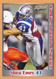 Shea Emry CFL card 2012 Jogo Pro Player #160 Montreal Alouettes  Eastern Washington Eagles  UBC Thunderbirds