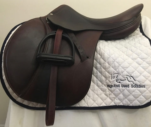 "Item #AN93C - Antares 17"" Full Calfskin, Flap for a Taller Rider, with Free Antares Leathers and Compositi Stirrups"