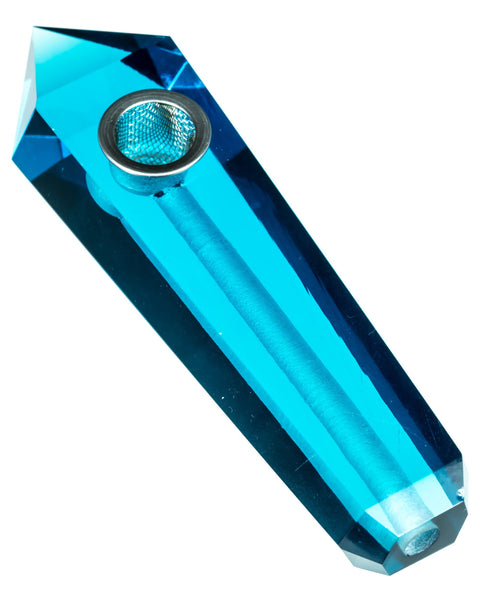 DankGeek - Blue Quartz Crystal Stone Pipe