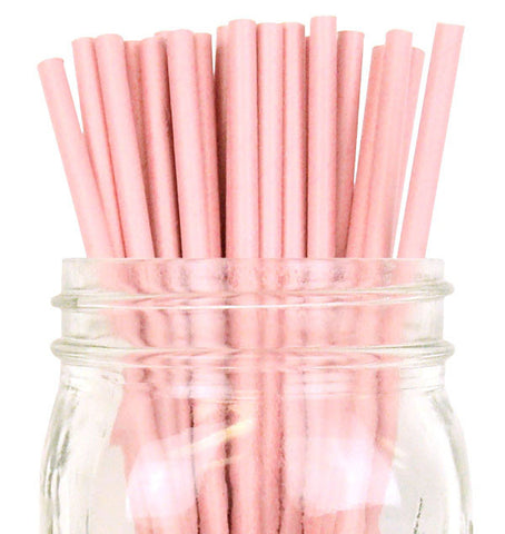 Paper Straws {Blush Solid}