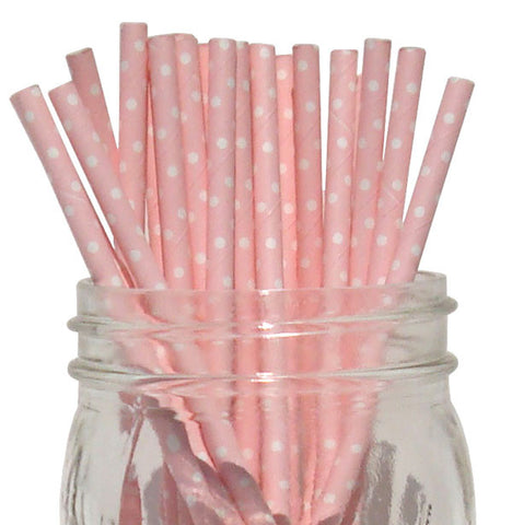 Paper Straws {Blush Mini Dot}