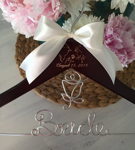 Wedding Hanger, Princess Bride Hanger, Personalized Hanger, Bridal Hanger, Princess Themed Wedding, Princess Hanger, Mrs. Hanger, Bride Gift