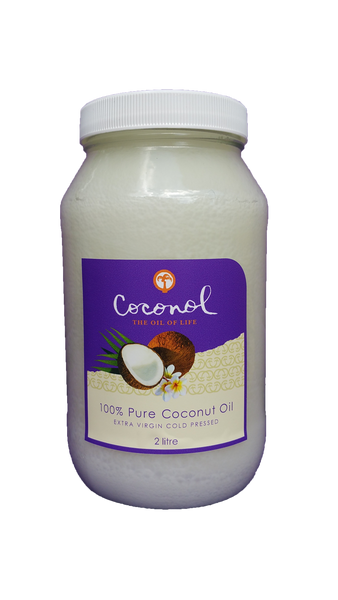 Pure Coconut Oil 2L Glass Jar