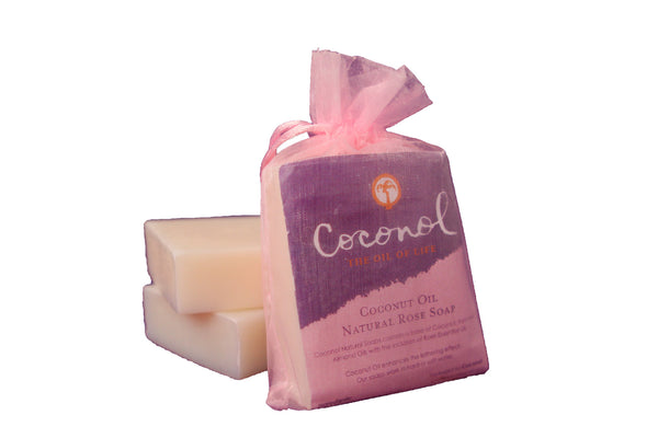 Coconut Oil Soap Rose