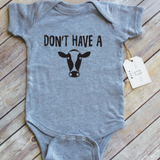 Paper Cow LLC - Don't Have A Cow Heather Grey Bodysuit