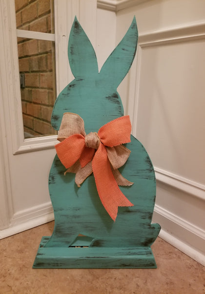 "24"" Custom Wood Bunny with Stand - Plush"