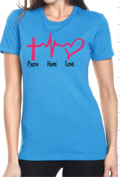Faith Hope Love T-Shirt - Ladies - Plush