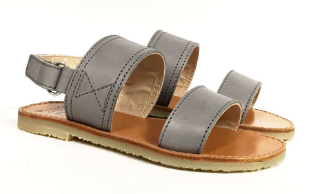 Manuela Gray Velcro Sandal-Tassel Children Shoes
