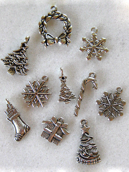 Christmas charms (10 pack)