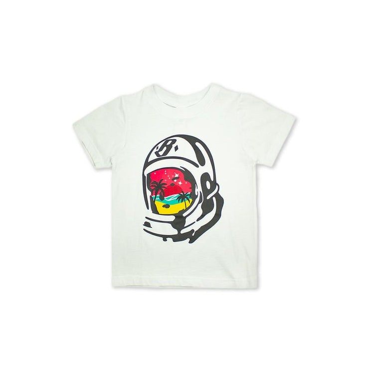 BILLIONAIRE BOYS CLUB (KIDS) - BB PARADISE HELMET SS TEE (WHITE)