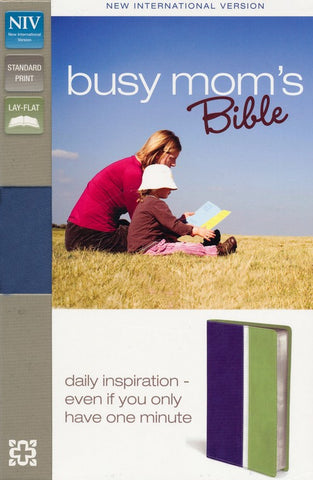 NIV Busy Mom's Bible (Blue/Sea Green)