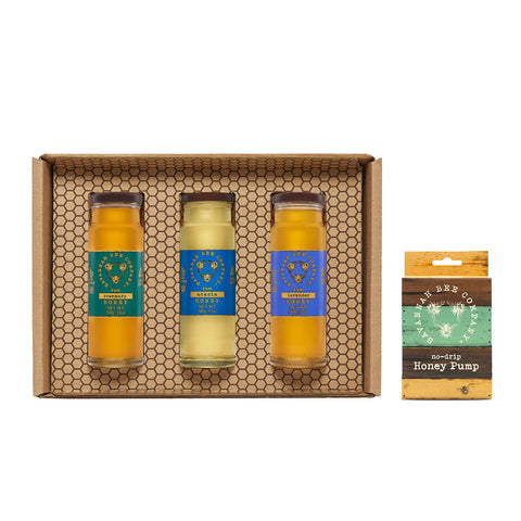 Kosher Savannah Bee Artisanal Tower Gift Set with Pump