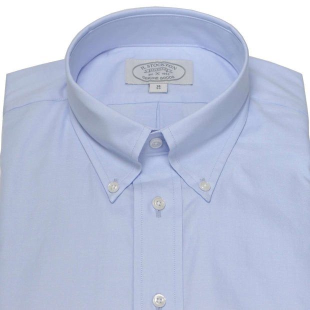 Button-Down Blue Pinpoint Oxford Dress Shirt