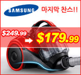 Samsung 삼성 청소기 VC4000 Canister VC with Compact & Light, 1100 Watt, Red