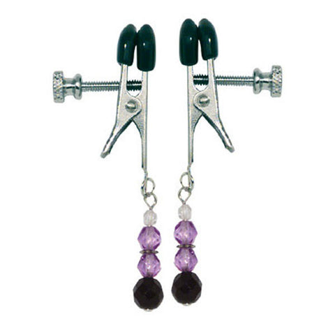 Spartacus Broad Tip Clamp with Purple Glass -  Clamps - Spot of Delight