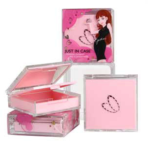Just In Case Metal Condom Compact - Pink Condom Compacts - Spot of Delight - 9