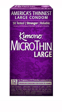 Kimono Microthin Large -  Condoms - Spot of Delight - 4
