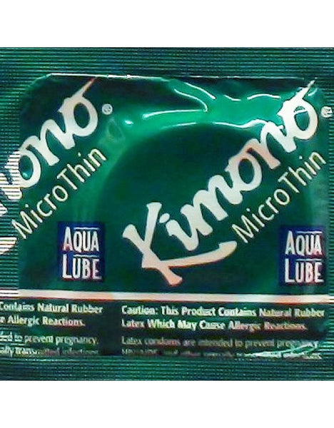 Kimono MicroThin Plus Aqua Lube - 1 PK Condoms - Spot of Delight - 2