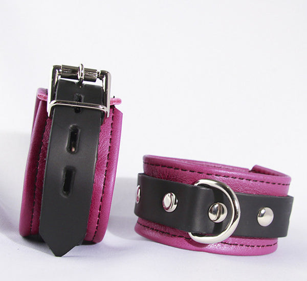 Aslan Leather Fuchsia Nicki Wrist Cuffs -  Wrist Cuffs - Spot of Delight - 1