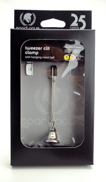 Spartacus Tweezer Clit Clamp with Bell -  Clamps - Spot of Delight - 4
