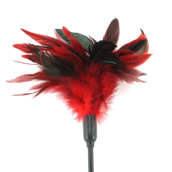 Sportsheets Starburst Feather Tickler - Red Feather Ticklers - Spot of Delight - 2