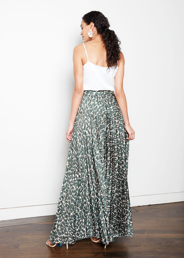 BEVERLY SKIRT - CAMO SOFT SATIN