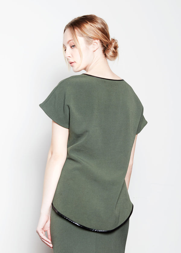 JANE SWEATSHIRT - ARMY STRETCH SUITING