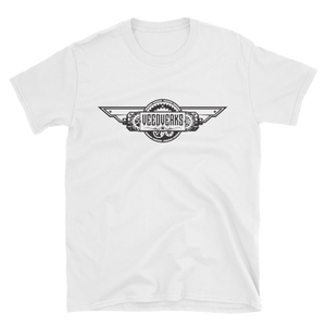 White T-shirt with Veedverks logo on front