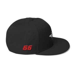 Black Veedverks Racing Carl Long #66 Snapback Cap, Right Side Number 66