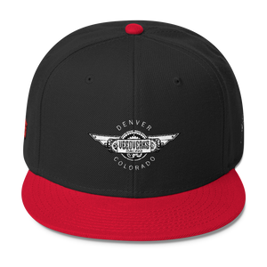 Black/red Veedverks Racing Carl Long #66 Snapback Cap, Front
