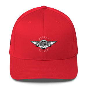 Red Veedverks Racing Carl Long #66 Structured Twill Cap, Front