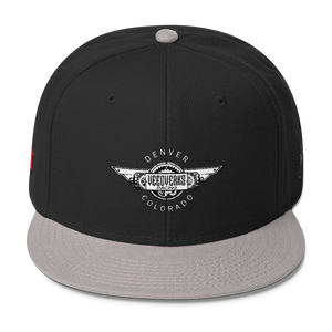 Black/gray Veedverks Racing Carl Long #66 Snapback Cap, Front